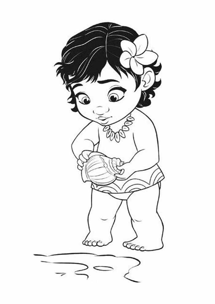 moana coloring page 25