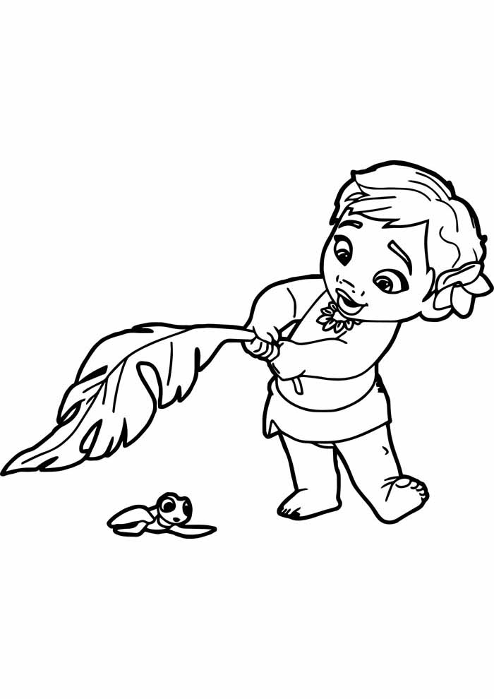 moana coloring page 27