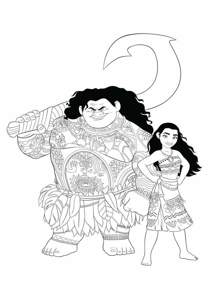 moana coloring page 29