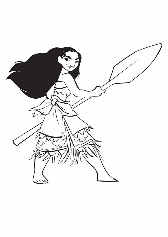 moana coloring page 33