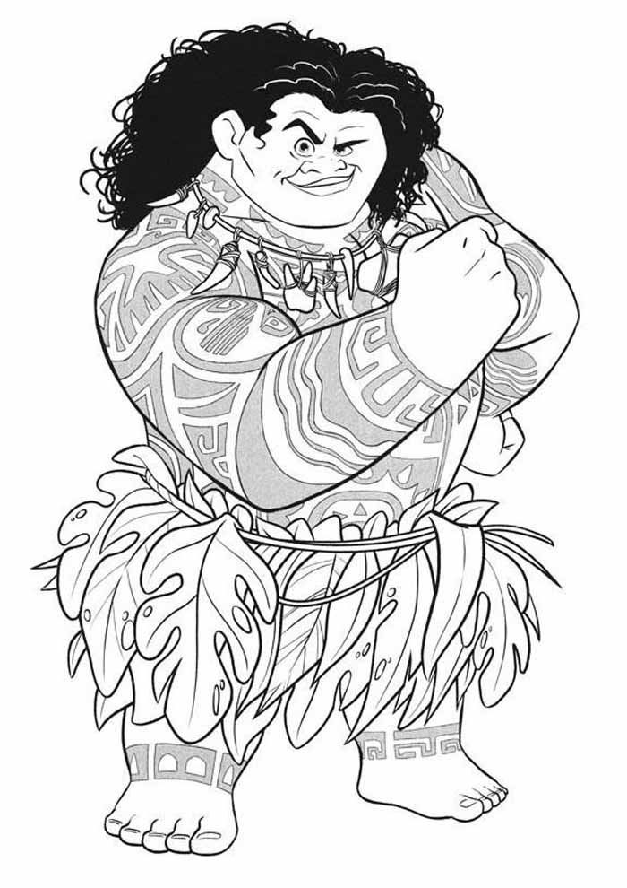moana coloring page 34