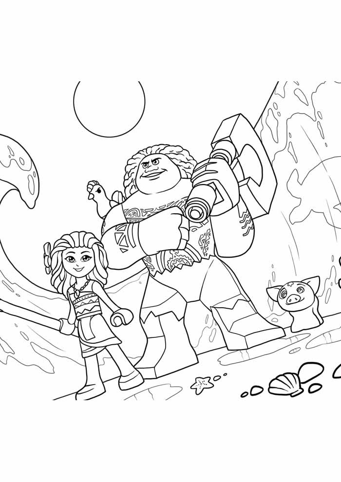 moana coloring page 36