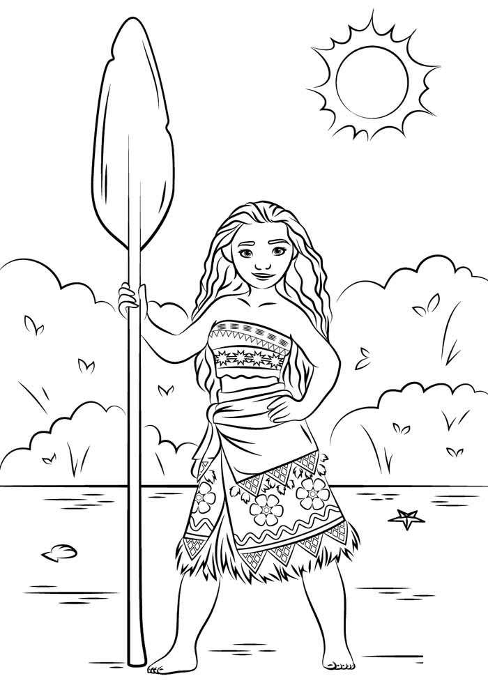 moana coloring page 4