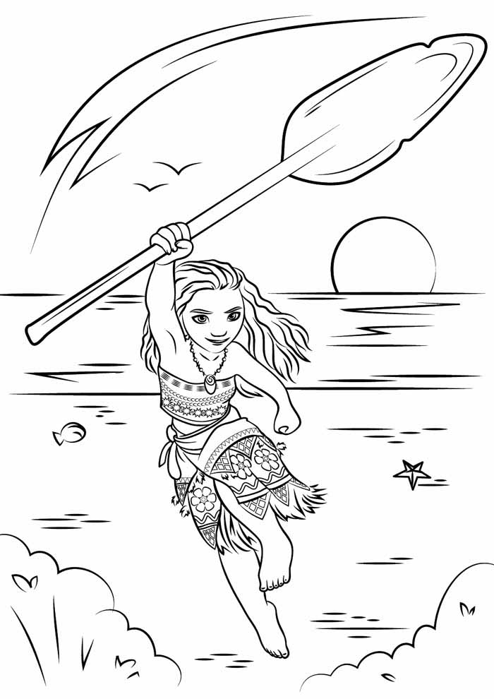 moana coloring page 7
