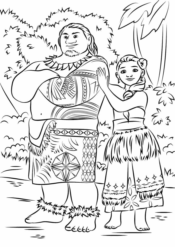 moana coloring page 8