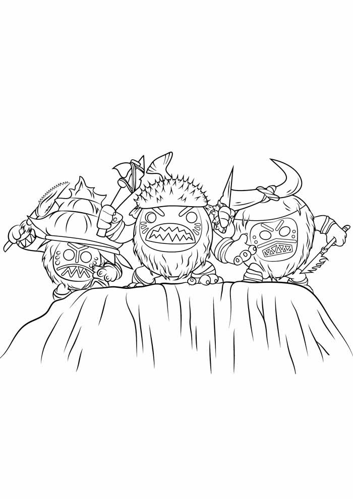 moana coloring page 9