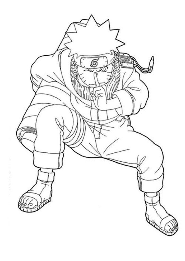 naruto coloring page 16
