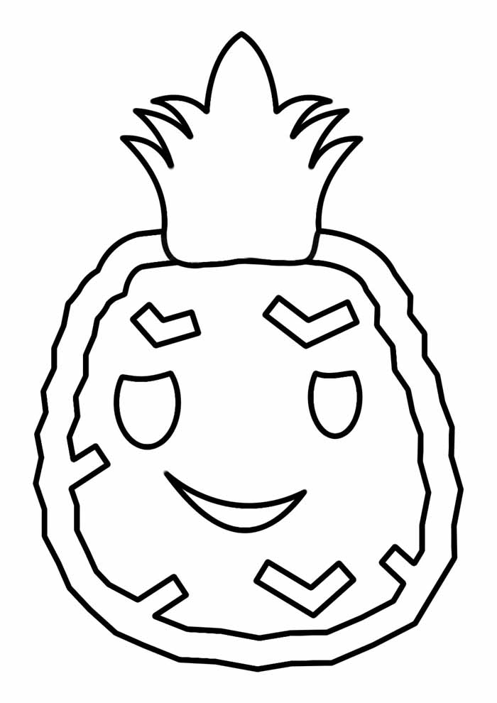 pineapple coloring page 1