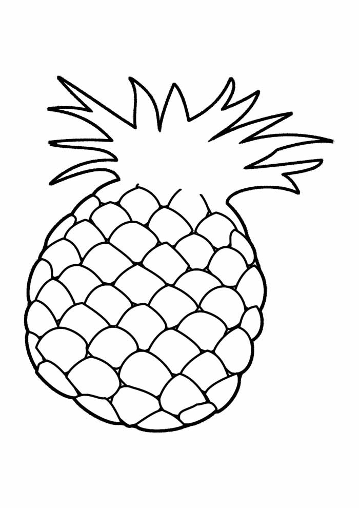 pineapple coloring page 2