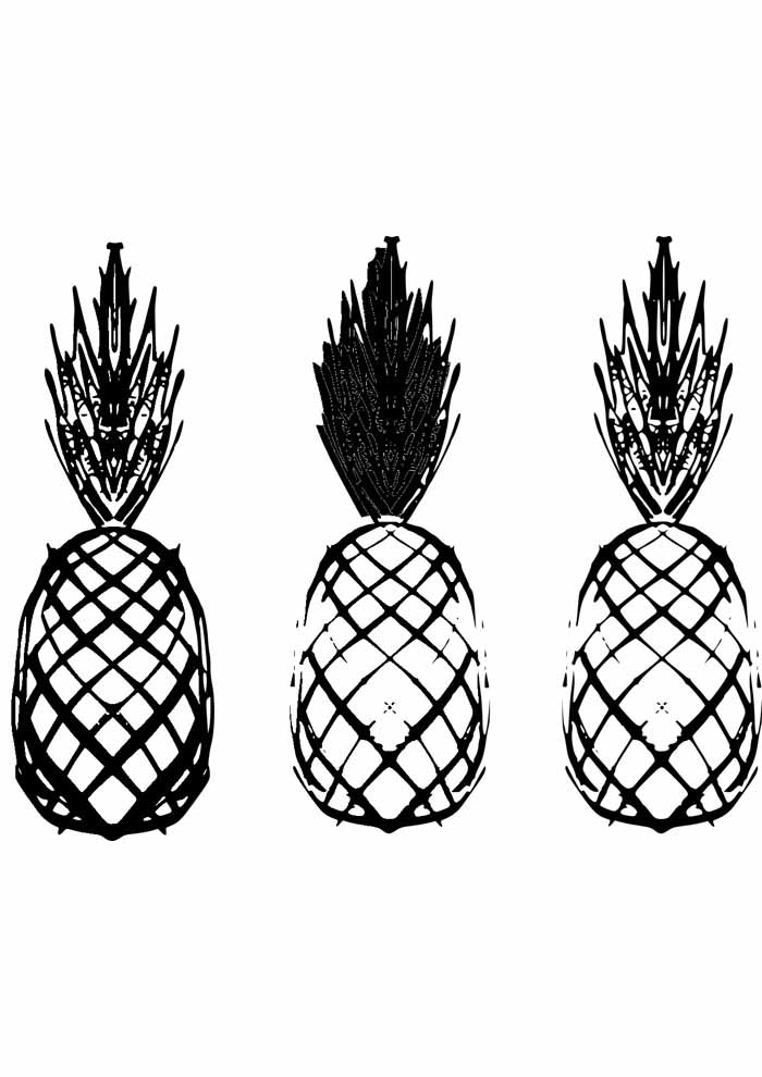 pineapple coloring page 4