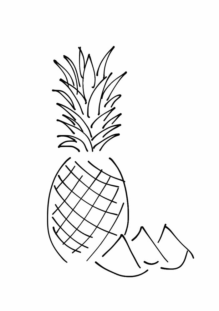 pineapple coloring page 6