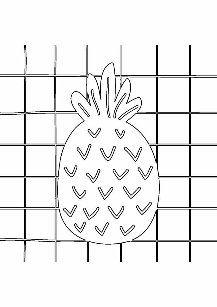 pineapple coloring page 7