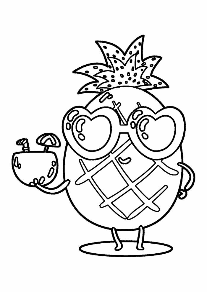 pineapple coloring page 8