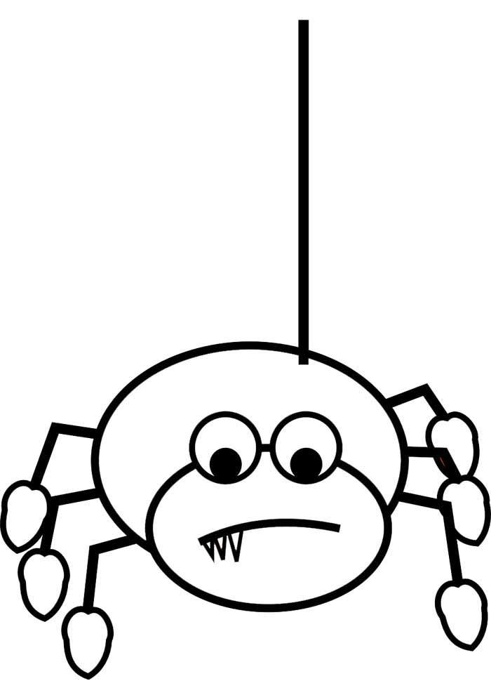 spider coloring page 15