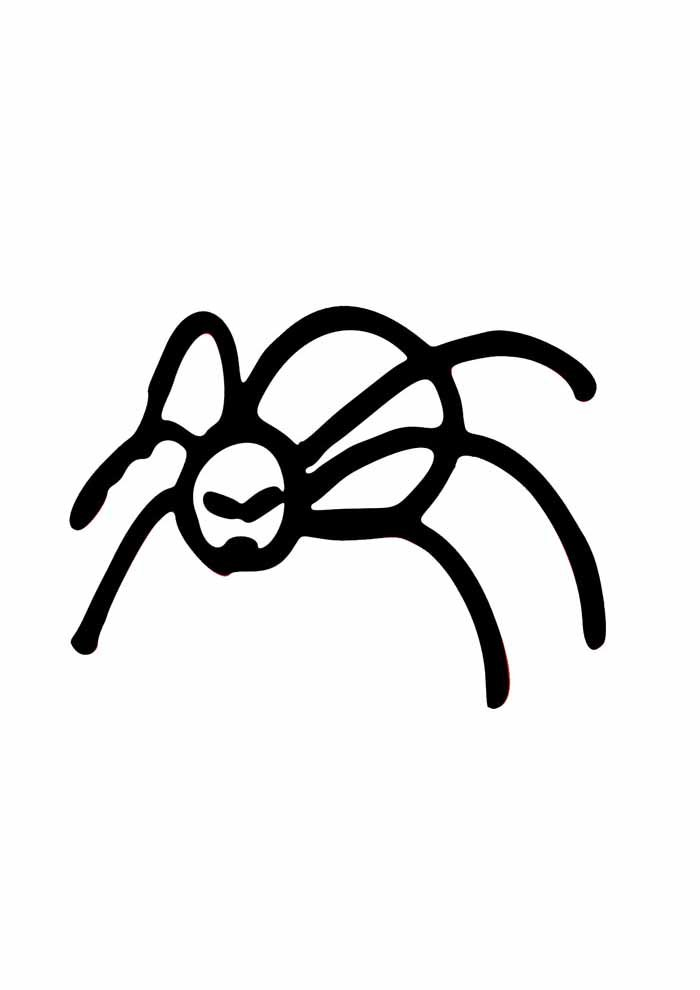 spider coloring page 16