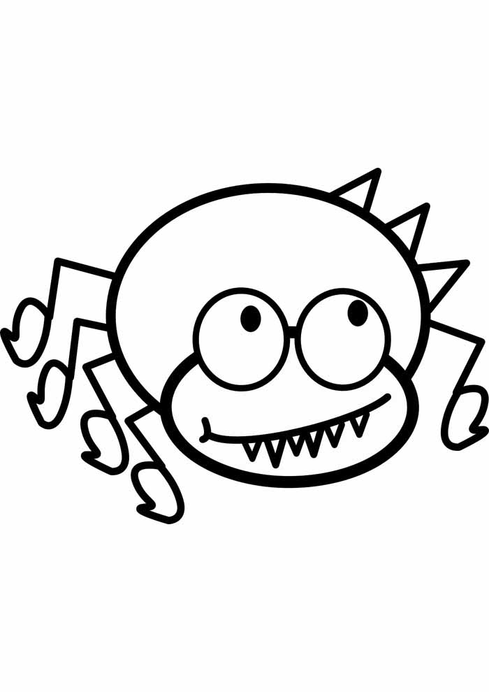 spider coloring page 17