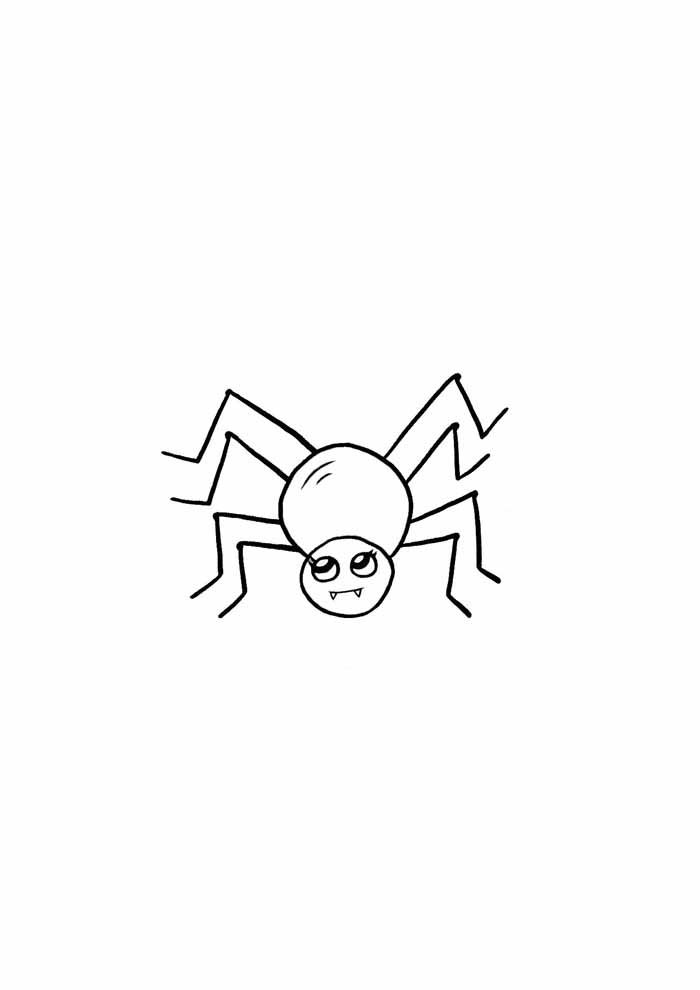 spider coloring page 28