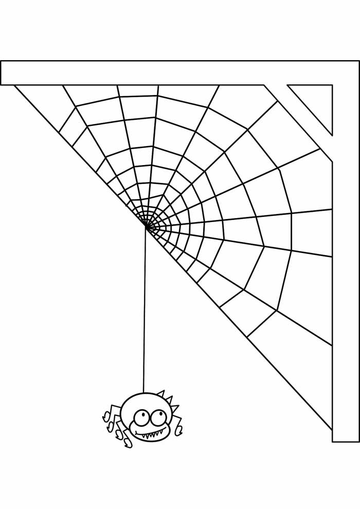 spider coloring page 31