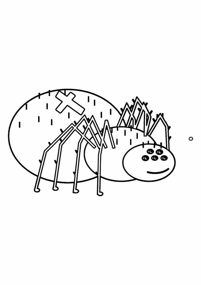 spider coloring page 6