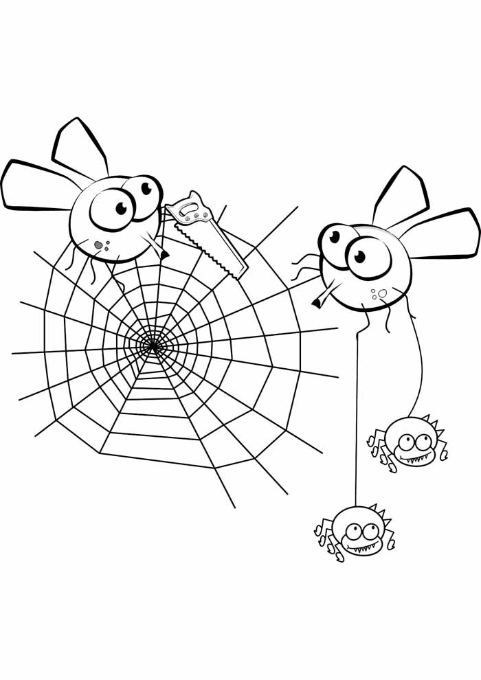 spider coloring page 8